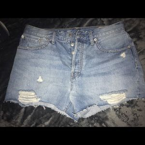 Never worn Light wash Free People Shorts